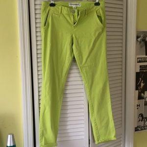 NWOT neon yellow pants